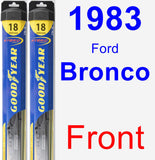 Front Wiper Blade Pack for 1983 Ford Bronco - Hybrid