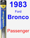 Passenger Wiper Blade for 1983 Ford Bronco - Hybrid