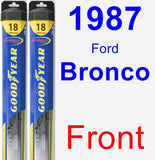 Front Wiper Blade Pack for 1987 Ford Bronco - Hybrid