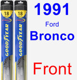 Front Wiper Blade Pack for 1991 Ford Bronco - Hybrid