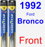 Front Wiper Blade Pack for 1992 Ford Bronco - Hybrid