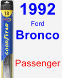 Passenger Wiper Blade for 1992 Ford Bronco - Hybrid