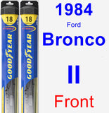 Front Wiper Blade Pack for 1984 Ford Bronco II - Hybrid