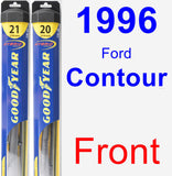 Front Wiper Blade Pack for 1996 Ford Contour - Hybrid