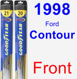Front Wiper Blade Pack for 1998 Ford Contour - Hybrid
