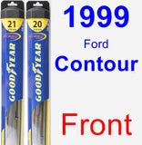Front Wiper Blade Pack for 1999 Ford Contour - Hybrid