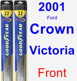 Front Wiper Blade Pack for 2001 Ford Crown Victoria - Hybrid