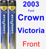 Front Wiper Blade Pack for 2003 Ford Crown Victoria - Hybrid