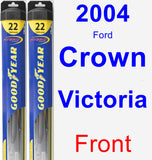 Front Wiper Blade Pack for 2004 Ford Crown Victoria - Hybrid
