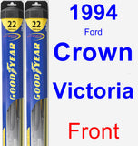 Front Wiper Blade Pack for 1994 Ford Crown Victoria - Hybrid