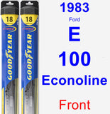Front Wiper Blade Pack for 1983 Ford E-100 Econoline - Hybrid