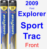 Front Wiper Blade Pack for 2009 Ford Explorer Sport Trac - Hybrid