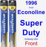 Front Wiper Blade Pack for 1996 Ford Econoline Super Duty - Hybrid