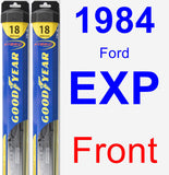 Front Wiper Blade Pack for 1984 Ford EXP - Hybrid