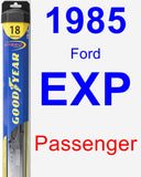 Passenger Wiper Blade for 1985 Ford EXP - Hybrid