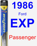 Passenger Wiper Blade for 1986 Ford EXP - Hybrid