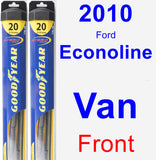 Front Wiper Blade Pack for 2010 Ford Econoline Van - Hybrid