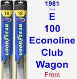 Front Wiper Blade Pack for 1981 Ford E-100 Econoline Club Wagon - Hybrid