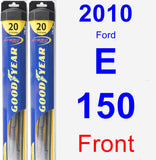 Front Wiper Blade Pack for 2010 Ford E-150 - Hybrid