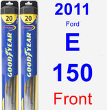 Front Wiper Blade Pack for 2011 Ford E-150 - Hybrid