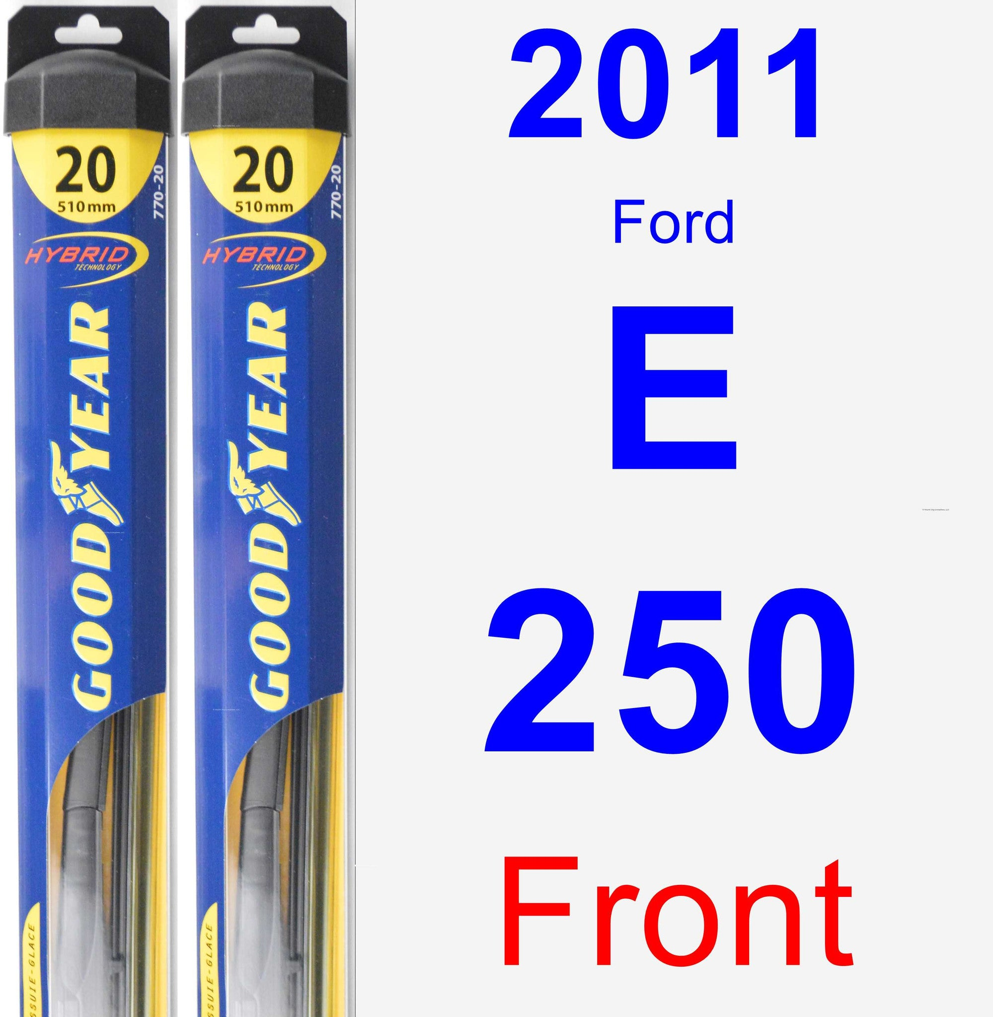 Front Wiper Blade Pack for 2011 Ford E-250 - Hybrid