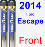 Front Wiper Blade Pack for 2014 Ford Escape - Hybrid