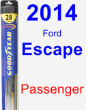 Passenger Wiper Blade for 2014 Ford Escape - Hybrid