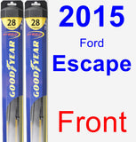 Front Wiper Blade Pack for 2015 Ford Escape - Hybrid