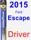 Driver Wiper Blade for 2015 Ford Escape - Hybrid