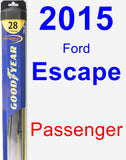 Passenger Wiper Blade for 2015 Ford Escape - Hybrid