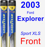 Front Wiper Blade Pack for 2003 Ford Explorer - Hybrid