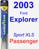 Passenger Wiper Blade for 2003 Ford Explorer - Hybrid
