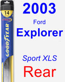 Rear Wiper Blade for 2003 Ford Explorer - Hybrid