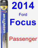 Passenger Wiper Blade for 2014 Ford Focus - Hybrid