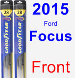 Front Wiper Blade Pack for 2015 Ford Focus - Hybrid