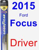 Driver Wiper Blade for 2015 Ford Focus - Hybrid
