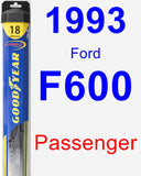 Passenger Wiper Blade for 1993 Ford F600 - Hybrid