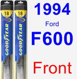 Front Wiper Blade Pack for 1994 Ford F600 - Hybrid