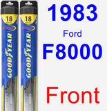 Front Wiper Blade Pack for 1983 Ford F8000 - Hybrid