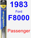 Passenger Wiper Blade for 1983 Ford F8000 - Hybrid