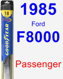 Passenger Wiper Blade for 1985 Ford F8000 - Hybrid
