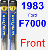 Front Wiper Blade Pack for 1983 Ford F7000 - Hybrid