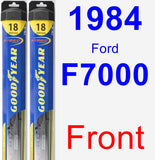 Front Wiper Blade Pack for 1984 Ford F7000 - Hybrid