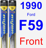 Front Wiper Blade Pack for 1990 Ford F59 - Hybrid