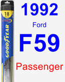 Passenger Wiper Blade for 1992 Ford F59 - Hybrid