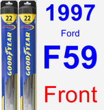 Front Wiper Blade Pack for 1997 Ford F59 - Hybrid