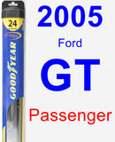 Passenger Wiper Blade for 2005 Ford GT - Hybrid