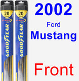Front Wiper Blade Pack for 2002 Ford Mustang - Hybrid