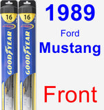 Front Wiper Blade Pack for 1989 Ford Mustang - Hybrid