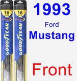 Front Wiper Blade Pack for 1993 Ford Mustang - Hybrid